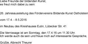 Text Ausstellung Eutin